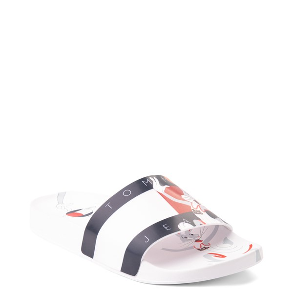 alternate view Womens Tommy Hilfiger Space Jam: A New Legacy x Tommy Jeans Bugs Bunny™ Slide Sandal - WhiteALT5