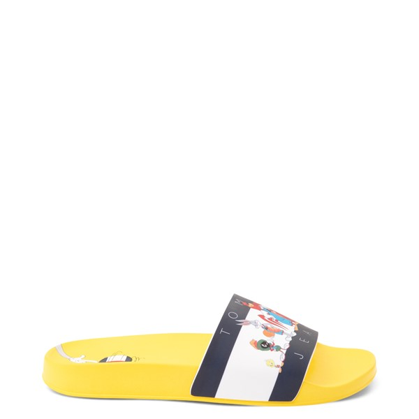 Womens Tommy Hilfiger Space Jam: A New Legacy x Tommy Jeans Tune Squad Slide Sandal - Yellow
