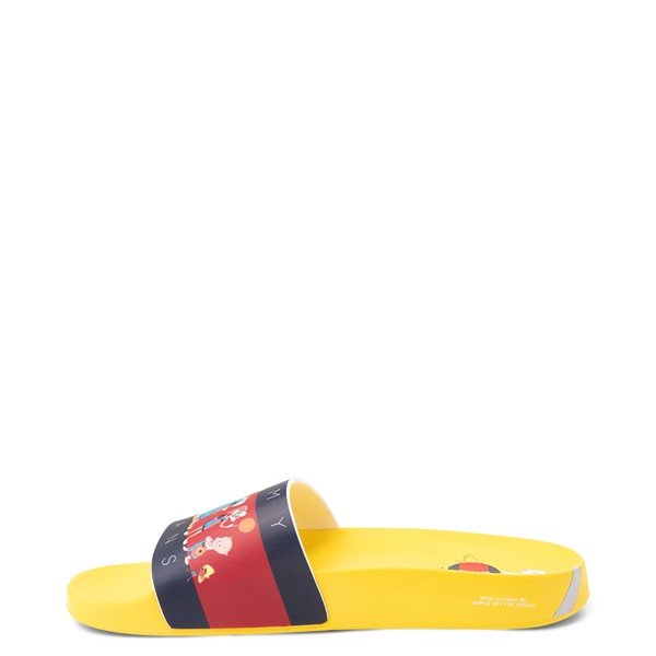 alternate view Womens Tommy Hilfiger Space Jam: A New Legacy x Tommy Jeans Tune Squad Slide Sandal - YellowALT1B