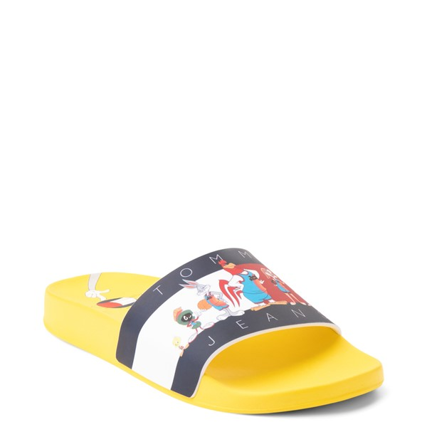 alternate view Womens Tommy Hilfiger Space Jam: A New Legacy x Tommy Jeans Tune Squad Slide Sandal - YellowALT5