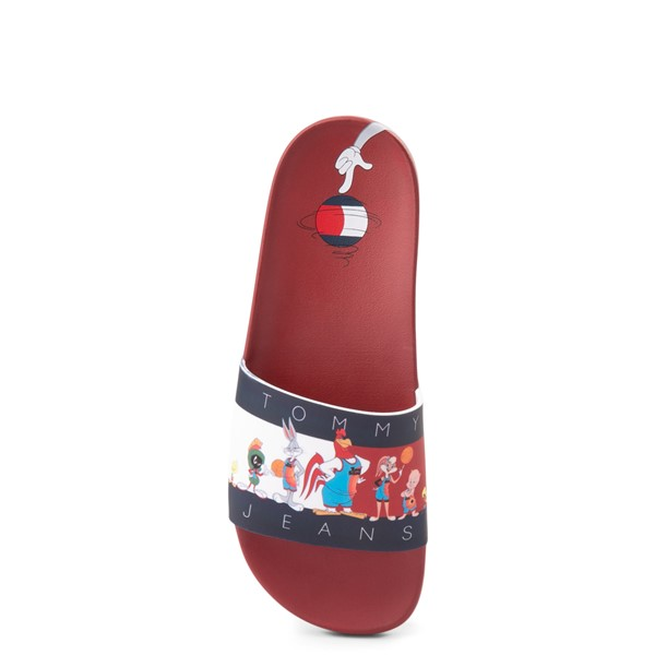 alternate view Womens Tommy Hilfiger Space Jam: A New Legacy x Tommy Jeans Tune Squad Slide Sandal - RedALT1