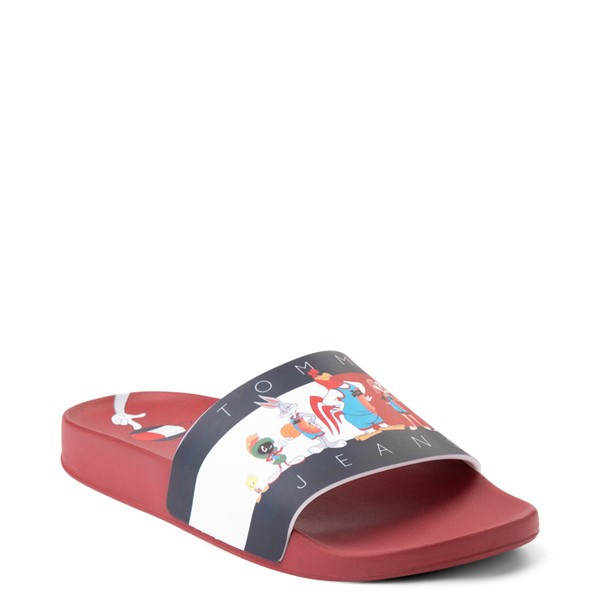 alternate view Womens Tommy Hilfiger Space Jam: A New Legacy x Tommy Jeans Tune Squad Slide Sandal - RedALT5