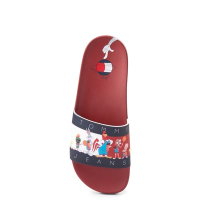 Alternate view of Womens Tommy Hilfiger Space Jam: A New Legacy x Tommy Jeans Tune Squad Slide Sandal - Red