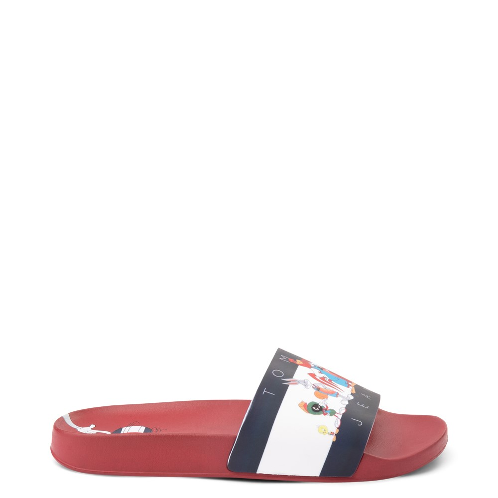 Womens Tommy Hilfiger Space Jam: A New Legacy x Tommy Jeans Tune Squad Slide Sandal - Red