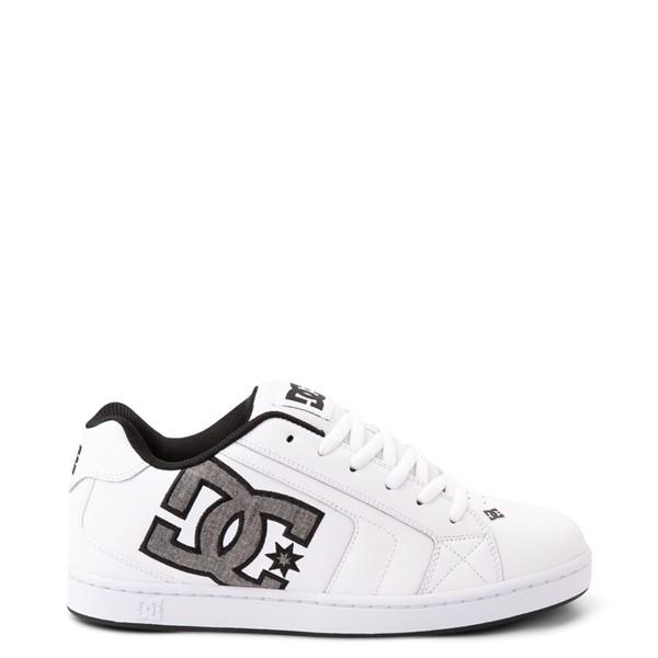 Main view of Mens DC Net Skate Shoe - White / Gray