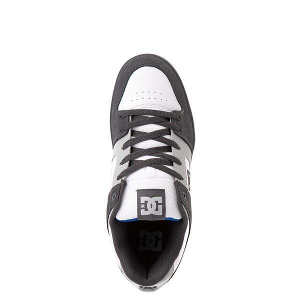 alternate view Mens DC Net Skate Shoe - Gray / WhiteALT2