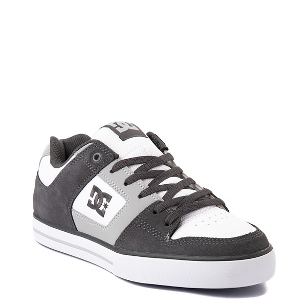 alternate view Mens DC Net Skate Shoe - Gray / WhiteALT5