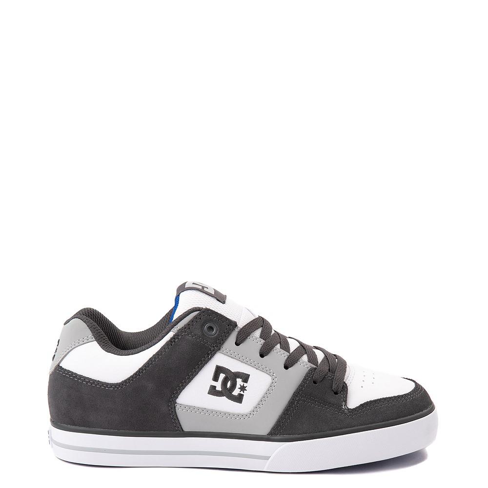 Mens DC Net Skate Shoe - Gray / White