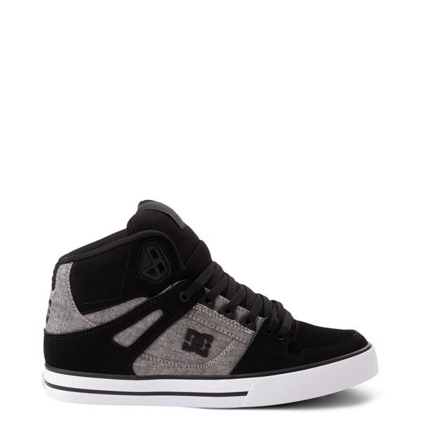 Mens DC Pure Hi WC Skate Shoe - Black / Gray