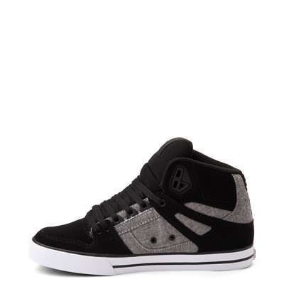 Alternate view of Mens DC Pure Hi WC Skate Shoe - Black / Gray