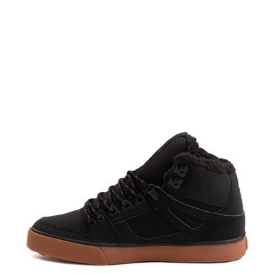 Alternate view of Mens DC Pure Hi WC Winter Skate Shoe - Black / Gum