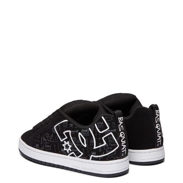 alternate view Mens DC x Basquiat Court Graffik Skate Shoe - BlackALT4
