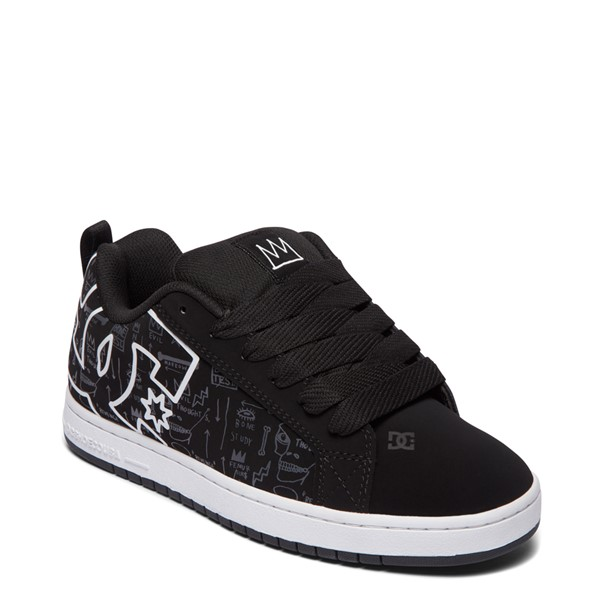 alternate view Mens DC x Basquiat Court Graffik Skate Shoe - BlackALT5