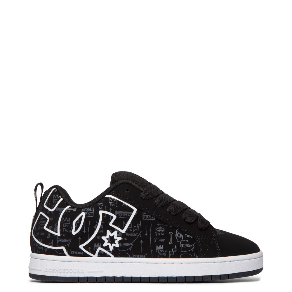 Mens DC x Basquiat Court Graffik Skate Shoe - Black