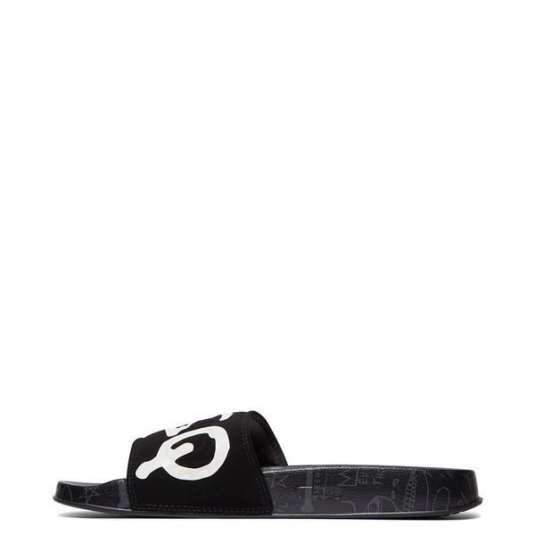 alternate view Mens DC x Basquiat Slider Slide Sandal - BlackALT1C