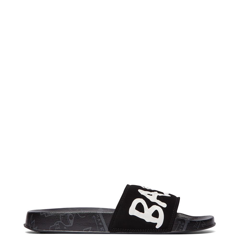 Mens DC x Basquiat Slider Slide Sandal - Black