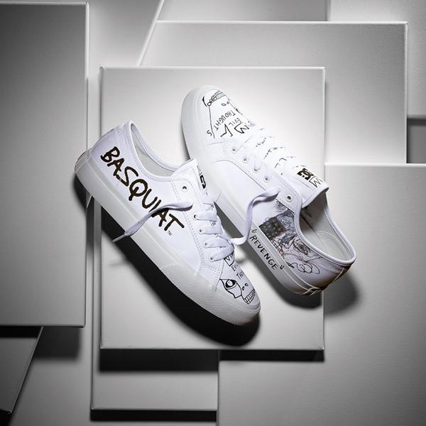 alternate view Mens DC x Basquiat Manual Skate Shoe - WhiteALT1B