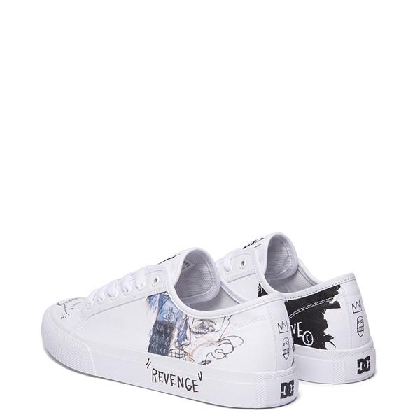 alternate view Mens DC x Basquiat Manual Skate Shoe - WhiteALT4