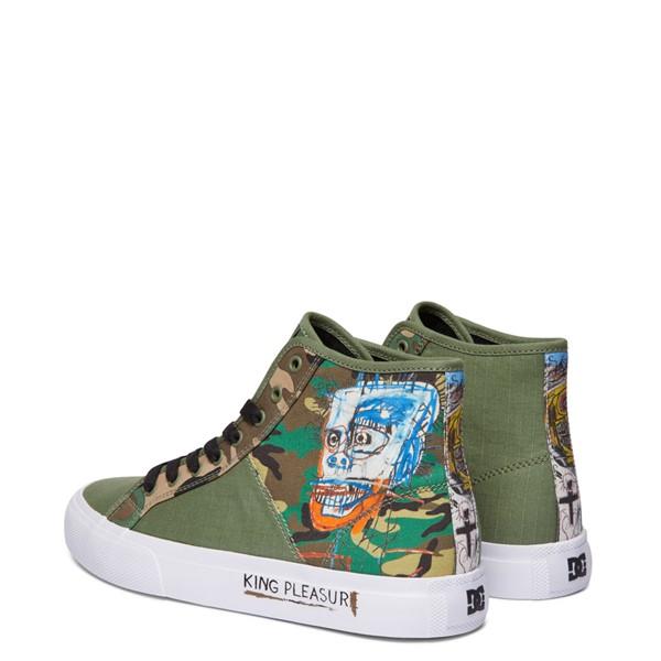 alternate view Mens DC x Basquiat Manual Hi Skate Shoe - CamoALT4