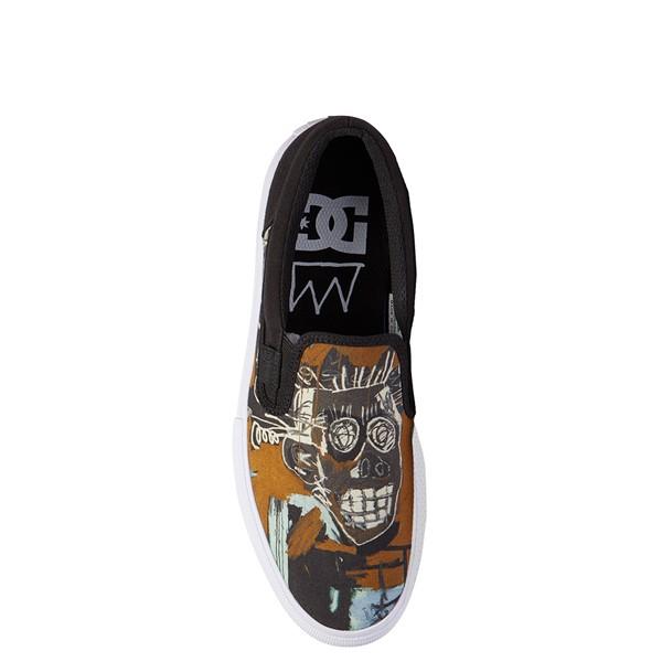 alternate view Mens DC x Basquiat Manual Slip On Skate Shoe - Black / MulticolorALT2