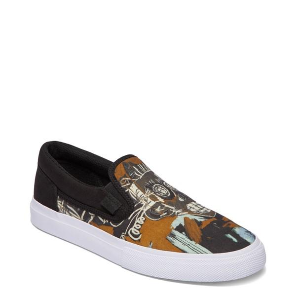 alternate view Mens DC x Basquiat Manual Slip On Skate Shoe - Black / MulticolorALT5