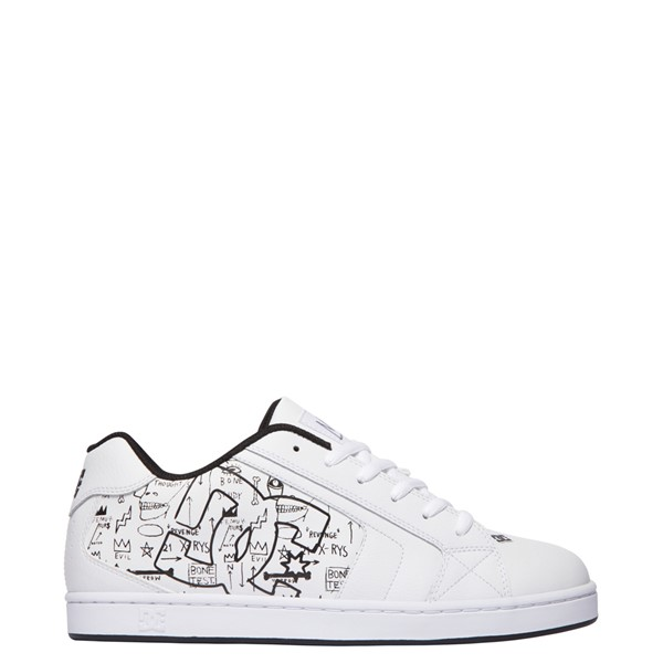 Main view of Mens DC x Basquiat Net Skate Shoe - White