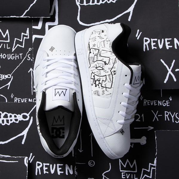 alternate view Mens DC x Basquiat Net Skate Shoe - WhiteALT1B