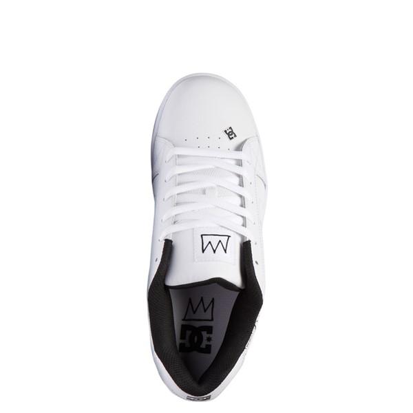 alternate view Mens DC x Basquiat Net Skate Shoe - WhiteALT2