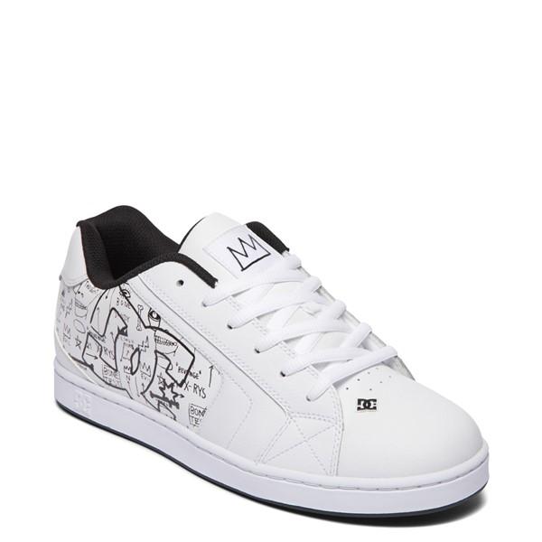 alternate view Mens DC x Basquiat Net Skate Shoe - WhiteALT5