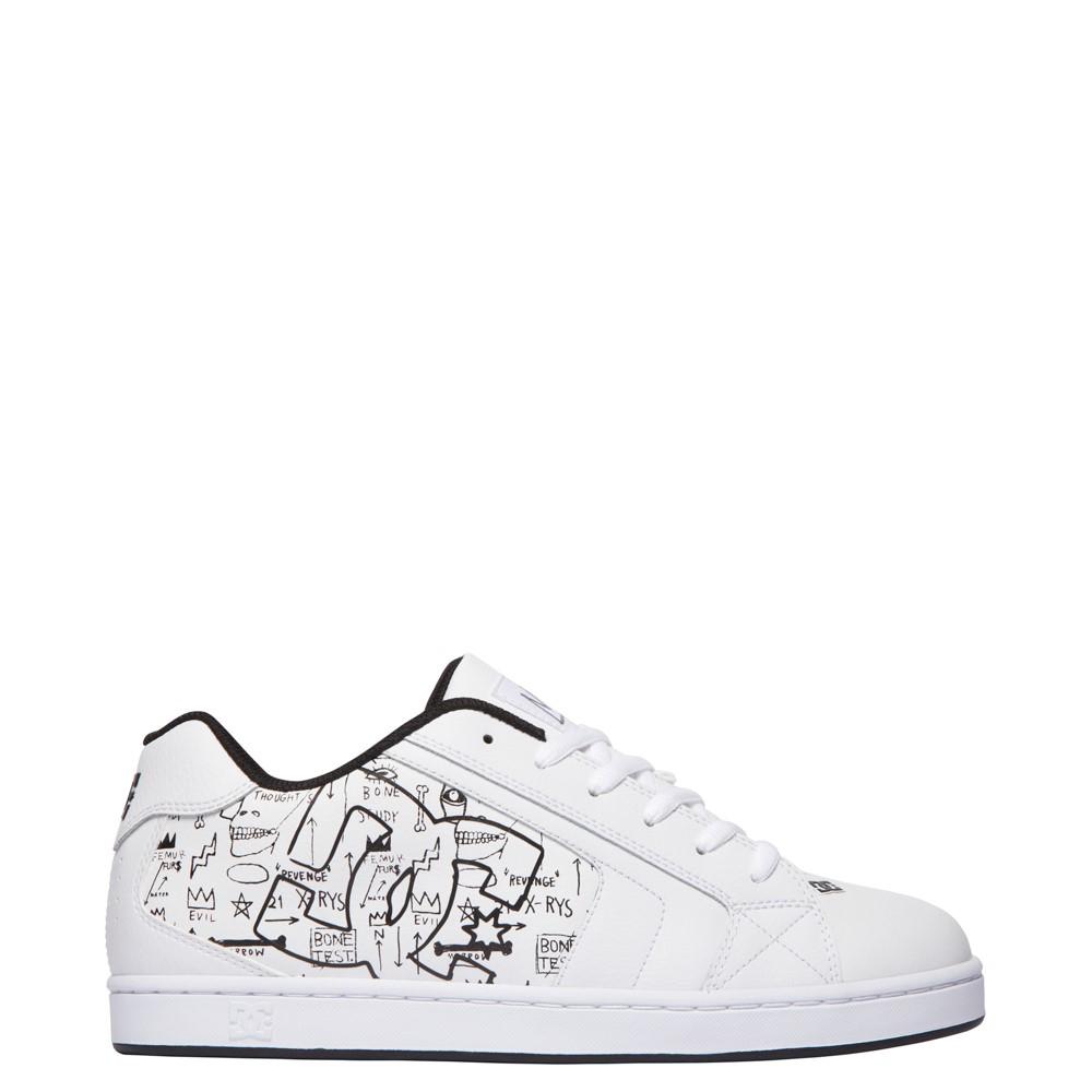 Mens DC x Basquiat Net Skate Shoe - White