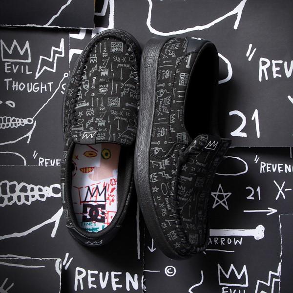 alternate view Mens DC x Basquiat Villain 2 Skate Shoe - BlackALT1B