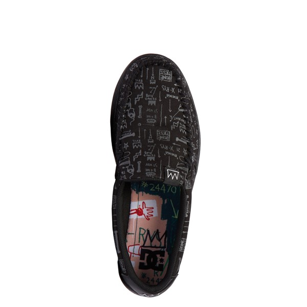 alternate view Mens DC x Basquiat Villain 2 Skate Shoe - BlackALT2