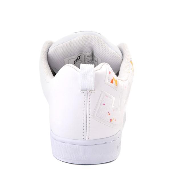 alternate view Womens DC Court Graffik Skate Shoe - White / Paint SplatterALT4