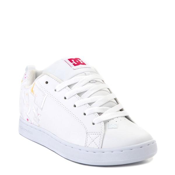 alternate view Womens DC Court Graffik Skate Shoe - White / Paint SplatterALT5