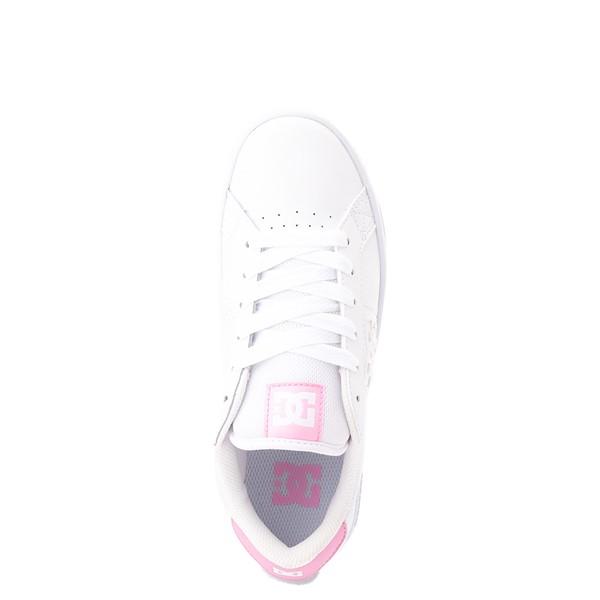 alternate view Womens DC Striker Skate Shoe - White / PinkALT2