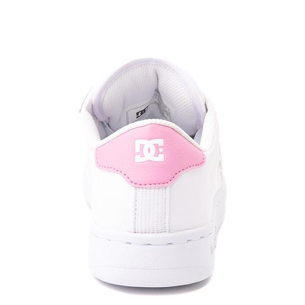 alternate view Womens DC Striker Skate Shoe - White / PinkALT4