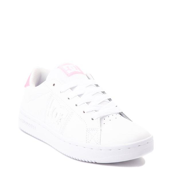 alternate view Womens DC Striker Skate Shoe - White / PinkALT5