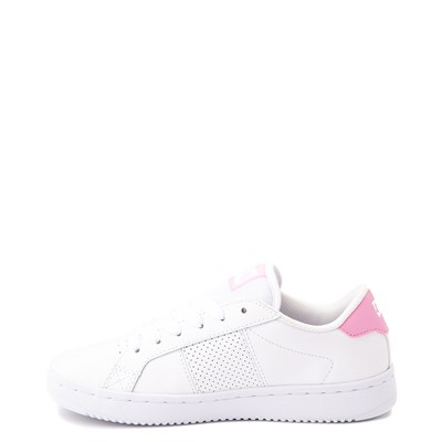 Alternate view of Womens DC Striker Skate Shoe - White / Pink