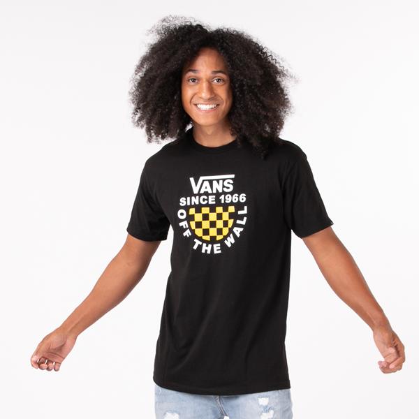 Mens Vans Checkerboard Balance Tee - Black