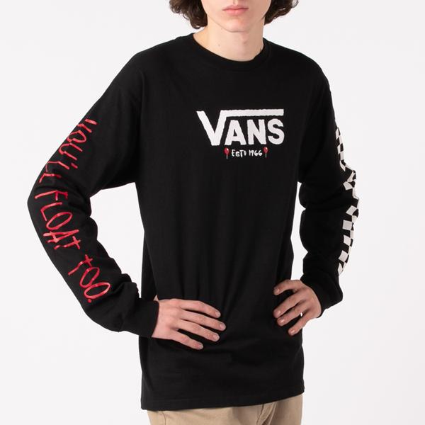 Mens Vans x Horror It Long Sleeve Tee - Black
