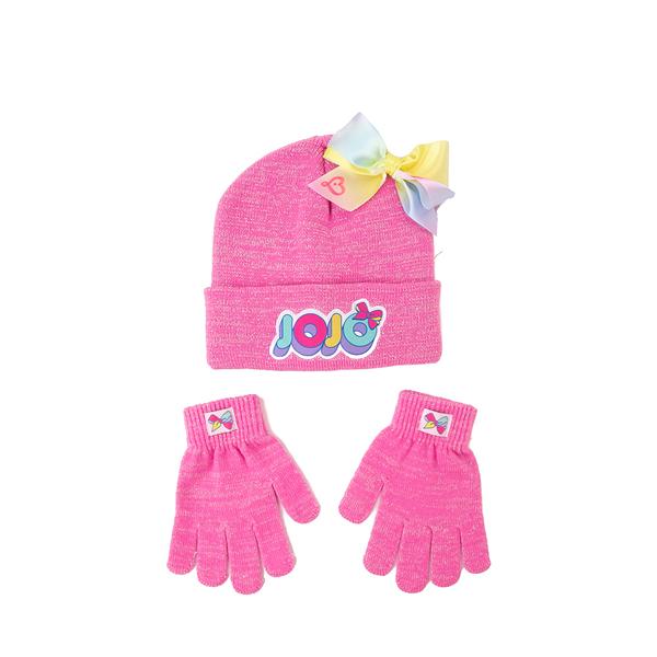 Main view of JoJo Siwa™ Beanie Set - Little Kid - Pink