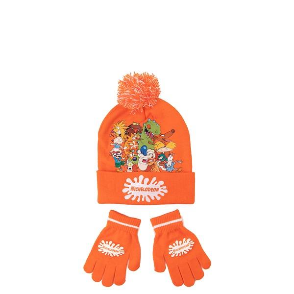 Main view of Nickelodeon Splat Beanie Set - Little Kid - Orange