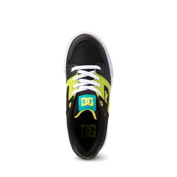 alternate view DC Pure Elastic Skate Shoe - Little Kid / Big Kid - Black / GreenALT2