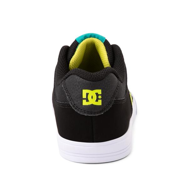 alternate view DC Pure Elastic Skate Shoe - Little Kid / Big Kid - Black / GreenALT4