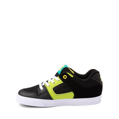 Alternate view of DC Pure Elastic Skate Shoe - Little Kid / Big Kid - Black / Green