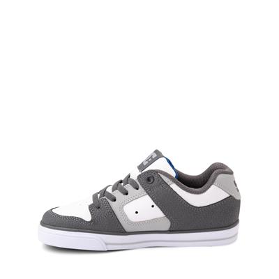 Alternate view of DC Pure Elastic Skate Shoe - Little Kid / Big Kid - White / Gray
