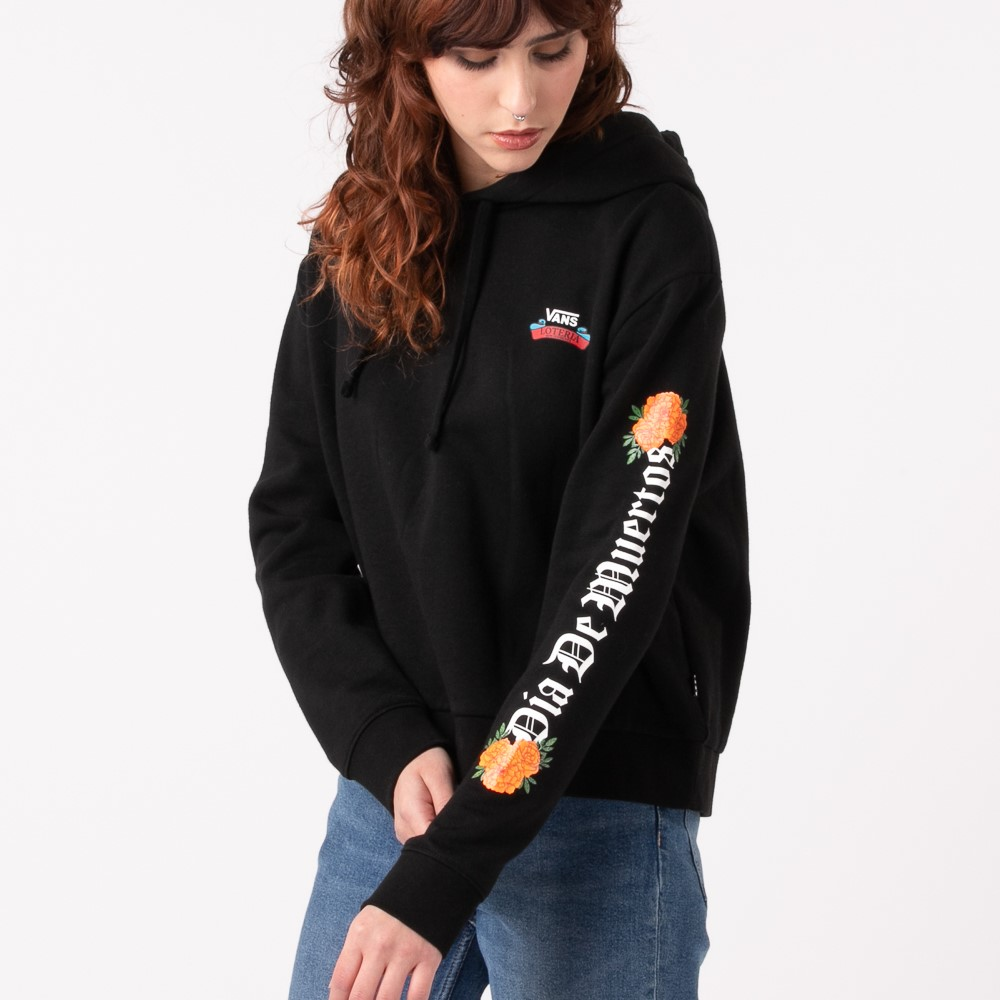 Womens Vans Loteria Ofrenda Boxy Hoodie - Black