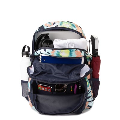 Alternate view of Womens Roxy Shadow Swell Backpack - Navy / Floral