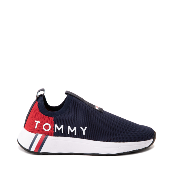 Main view of Womens Tommy Hilfiger Aliah Slip On Athletic Shoe - Navy