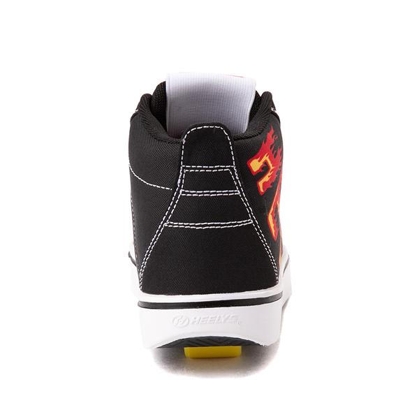 alternate view Heelys Racer 20 Mid Skate Shoe - Little Kid / Big Kid - Black / FlamesALT4